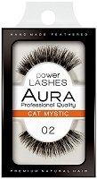 """Aura Power Lashes Cat Mystic 02 - Мигли от естествен косъм от серията """"Power Lashes"""" - крем"""