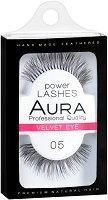 """Aura Power Lashes Velvet Eye 05 - Мигли от естествен косъм от серията """"Power Lashes"""" - четка"""