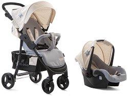 Бебешка количка 2 в 1 - Verona: Blanc - С 4 колела -