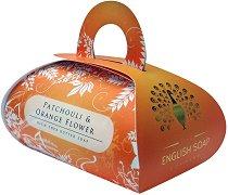 English Soap Company Patchouli & Orange Flower Large Bath Soap - Луксозен сапун с масло от ший и аромат на пачули и портокалов цвят -