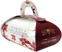 English Soap Company Clematis & Lime Blossom Large Bath Soap - Луксозен сапун с масло от ший и аромат на клематис и цвят от лайм -