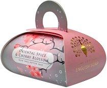 English Soap Company Oriental Spice & Cherry Blossom Large Bath Soap - Луксозен сапун с масло от ший и аромат на ориенталски подправки и черешов цвят -