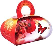 English Soap Company Enchanted Blooms Large Bath Soap - Луксозен сапун с масло от ший и флорален аромат -