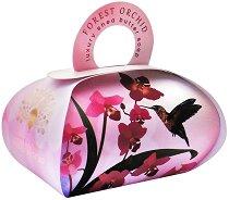 English Soap Company Forest Orchid Large Bath Soap - Луксозен сапун с масло от ший и аромат на горска орхидея -