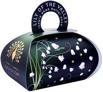 English Soap Company Lily Of The Valley Large Bath Soap - Луксозен сапун с масло от ший и аромат на момина сълза -