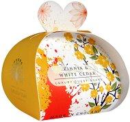 English Soap Company Zinnia & White Cedar Luxury Guest Soaps - Опаковка от 3 x 20 g сапуни с аромат на циния и бял кедър -
