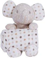 Бебешко одеяло с плюшено слонче - Dotty - 80 x 100 cm -