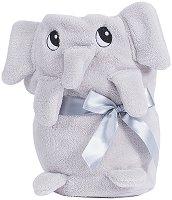 Бебешко плюшено одеяло - Слонче - 75 x 100 cm - продукт