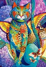 Пъстроцветна котка - пъзел
