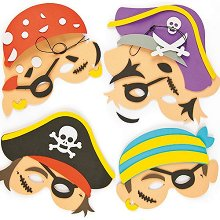 Направи сам и декорирай - Пиратски маски -