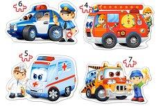 Спасителни служби - Четири пъзела в нестандартна форма -