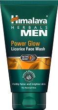 Himalaya Men Power Glow Licorice Face Wash - Измиващ и освежаващ гел за лице със сладник за мъже - маска