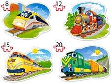 Забавни влакове - Четири пъзела в нестандартна форма -
