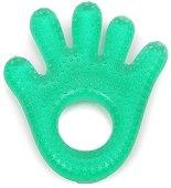 Зелена дъвкалка с охлаждащ ефект - Hand - За бебета над 3 месеца -
