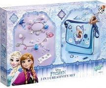 """Създай сама - Декорация за чанта и гривни - Творчески комплект 2 в 1 от серията """"Замръзналото кралство"""" -"""