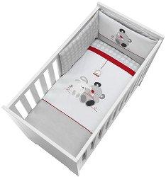 Спален комплект за бебешко креватче - Приятели - 4 части -