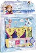 """Декорирай сама - Стикери със Замръзналото кралство - Творчески комплект от серията """"Замръзналото кралство"""" - образователен комплект"""