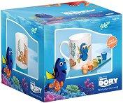 """Декорирай сам - Керамична чаша - Творчески комплект от серията """"Търсенето на Дори"""" - детски аксесоар"""