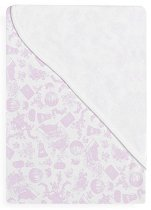 Розова бебешка памучна пелена - Балони - Размер 78 х 78 cm -
