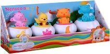 Влакче с животни - Бебешка играчка за дърпане - творчески комплект