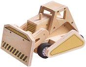 Булдозер - Дървена играчка за сглобяване - творчески комплект