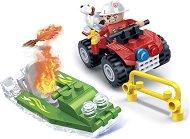 Пожарникарска кола и лодка - играчка
