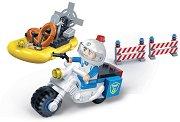 """Полицейски мотор и лодка - Детски конструктор от серията """"Police"""" - топка"""