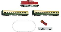 Пътнически влак с дизелов локомотив BR 212 - DDR - Дигитален стартов комплект с релси и дистанционно управление -