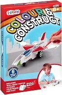 """Създай сам - Самолет - Комплект картонен модел с флумастери за оцветяване от серията """"i-create"""" - творчески комплект"""