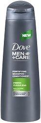 """Dove Men+Care Fresh Clean 2 in 1 Fortifying Shampoo & Conditioner - Шампоан и балсам 2 в 1 за мъже с ментол от серията """"Men+Care"""" - балсам"""