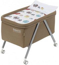 Бежова алуминиева кошара с колелца - Basic - Комплект със спално бельо -
