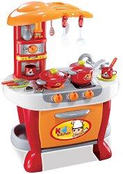 Детска кухня с аксесоари - Little Chef - Със светлинни и звукови ефекти -