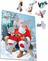 Дядо Коледа и животните - Пъзел в картонена подложка - пъзел