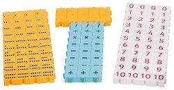 Научи се да смяташ и броиш - Образователен комплект с блокчета в кутия -