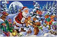 Дядо Коледа в гората - Пъзел в картонена подложка - пъзел
