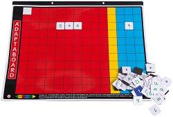 """Магнитна дъска за смятане за деца от 3 до 7 години - Образователна играчка с цифри от серията """"Adaptaboard"""" - творчески комплект"""