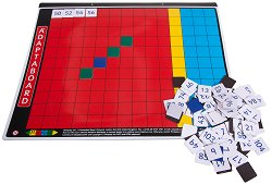 """Магнитна дъска за смятане за деца от 3 до 7 години - Образователна играчка с цифри от серията """"Adaptaboard"""" - играчка"""