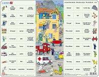 Научи английски език X - Образователен пъзел в картонена подложка -