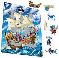 Пирати - Пъзел в картонена подложка - пъзел