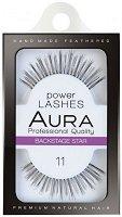 """Aura Power Lashes Backstage Star 11 - Мигли от естествен косъм от серията """"Power Lashes"""" - продукт"""