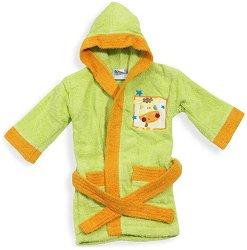 Зелен детски халат за баня -