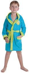 Детски халат за баня - Цвят тюркоаз - продукт