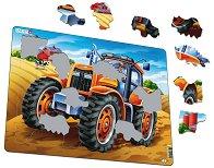 Трактор - Пъзел в картонена подложка - пъзел