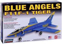 Военен самолет - Blue Angels F11F-1 Tiger - Сглобяем авиомодел -