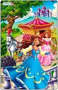 Принцеси - 1 част - Пъзел в картонена подложка -