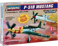 Военен самолет - P-51B Mustang - Сглобяем авиомодел -