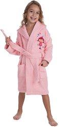 Розов детски халат за баня -