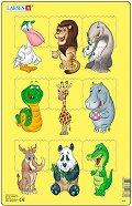 Животни - 2 част - Пъзел в картонена подложка -