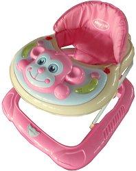 Детска проходилка - Monkey: Light Pink -