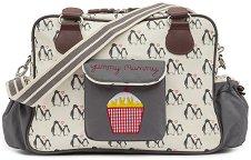 Чанта - Yummy Mummy: Penguin Love - Аксесоар за детска количка с подложка за преповиване -